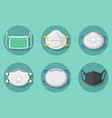 collection health masks for coronavirus vector image vector image
