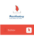 creative downloading logo design flat color logo vector image