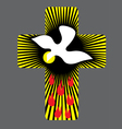 Cross with Holy spirit vector image vector image