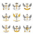 crosses of christianity religion emblems set vector image vector image