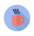 cup with hot drink flat icon with shadow vector image