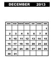 december calendar 2013 vector image vector image