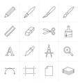 Drawing and painting tools icons vector image vector image