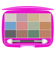 Eye shadows beauty set vector image vector image