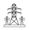 factory silhouette draw vector image