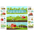 farming and agriculture infographic banners vector image vector image