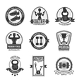Fitness Club Black And White Badges vector image vector image