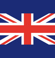 flag of united kingdom uk england trendy britai vector image