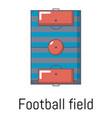 football field icon cartoon style vector image