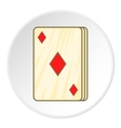 Game cards icon cartoon style vector image