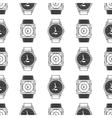 Geometric seamless pattern with watches vector image vector image