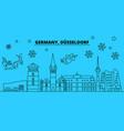 germany dusseldorf winter holidays skyline merry vector image vector image
