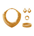 golden jewelry pieces vector image