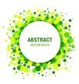 Green - Yellow Spring Circle Frame Design Element vector image vector image