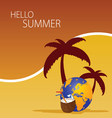 hallo summer color vector image vector image