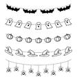 Halloween garland set vector image vector image