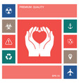 hands holding heart - protection symbol elements vector image