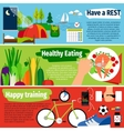 Healthy lifestyle banners vector image vector image