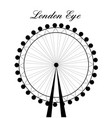 image of cartoon london eye silhouette with sign vector image