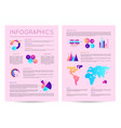 infographics brochure with various diagrams vector image vector image