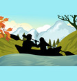 kayaking people vector image