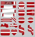 Latvia flags vector image vector image