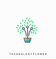 leaf natural growth design template vector image vector image
