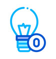 lightbulb lamp icon outline vector image vector image