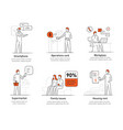 man various life issues and affairs family vector image vector image