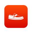 men moccasin icon digital red vector image vector image