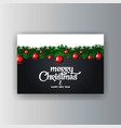 merry christmas decorative vintage background vector image
