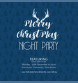 merry christmas night party tree background vector image vector image