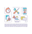mobile app developer concept icon with text vector image vector image