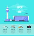 modern international passenger airport advertising vector image vector image