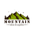 mountain explorer adventure badge template vector image vector image