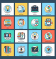 pack of design and development flat icons vector image vector image
