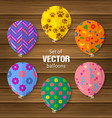 party balloons in flat style vector image