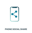 phone social share icon flat style icon design vector image