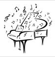 Piano sketch vector image vector image