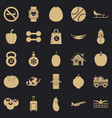 practice icons set simple style vector image vector image