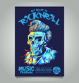 rock n roll poster template vector image