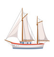 sailing ship in the sea on seascape vector image vector image