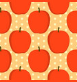 seamless vintage pattern with red apples vector image