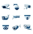 Security camera CCTV flat icons set vector image vector image