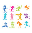 set of cartoon children vector image vector image