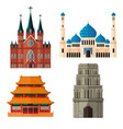 set of place of worship for different religions vector image vector image