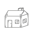 sketch of the small house vector image
