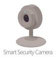 smart security camera icon cartoon style vector image vector image