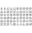telecommuting or remote work line icon set vector image