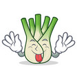 tongue out fennel mascot cartoon style vector image vector image